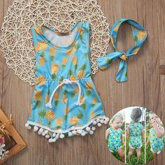 b7a745454941 Newborn Toddler Baby Girl Romper Jumpsuit Bodysuit Infant Clothes Outfit  Sunsuit  Unbranded
