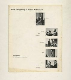 Lewis Mumford - What is Happening to Modern Architecture?   A Symposium at the Museum of Modern Art (1948)