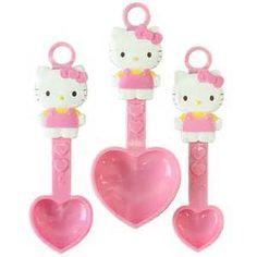 measuring spoons Hello Kitty Kitchen, Hello Kitty Coloring, Hello Kitty Themes, Kawaii, Sanrio Hello Kitty, Home Design Decor, Measuring Spoons, Girly Things, Cool Furniture