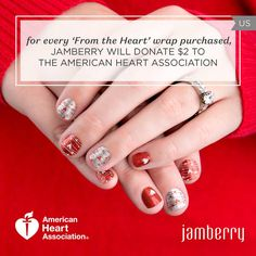 2016 Heart Health wrap.  For every wrap I sell, I will match Jamberry's donation of $2.00.