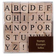 Recollections Wood Stamps, Medium Upper Case Alphabet