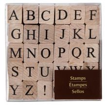 Recollections Wood Stamps, Medium Upper Case Alphabet