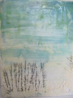 everyone interpets paintings differently, to me this looks like seagrass, beach and the ocean, just love it!