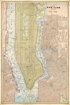 Histporical map of NYC from 1901. Ny Map, New York City Map, City Maps, Antique Maps, Vintage Maps, Carte New York, A New York Minute, Empire State Of Mind, Printables