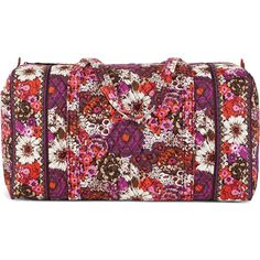 Vera Bradley Large Duffel Travel Bag in Rosewood ($85) ❤ liked on Polyvore featuring bags, luggage, bridal party gifts, gifts and rosewood