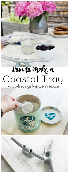 How to Create a Coastal Tray using Saltwash by www.findingsilverpennies.com #sponsored