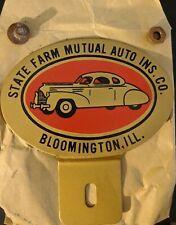 Vintage State Farm Insurance License Plate Topper Bloomington Illinois New State Farm Insurance License Plate License Plate Topper