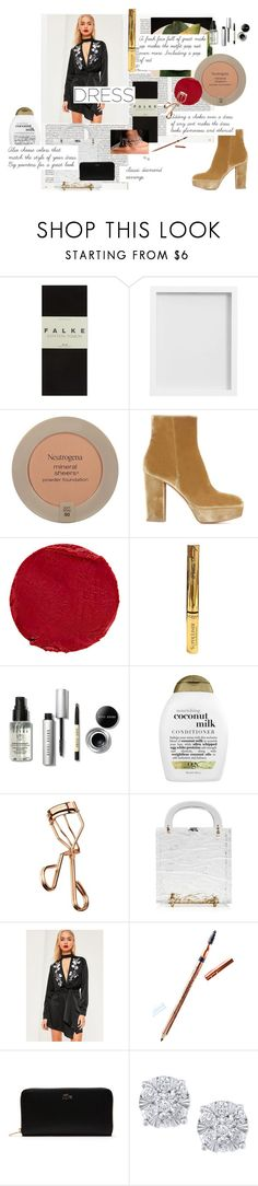 """Oriental Choker Dress"" by pandatheod ❤ liked on Polyvore featuring Radcliffe, Falke, Pottery Barn, Neutrogena, Gianvito Rossi, Temptu, L'Oréal Paris, Bobbi Brown Cosmetics, Organix and Tweezerman"