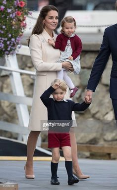 Prince William, Duke of Cambridge, Prince George of Cambridge, Catherine, Duchess of Cambridge and Princess Charlotte leave from Victoria Harbour to board a sea-plane on the final day of their Royal Tour of Canada on October 1, 2016 in Victoria, Canada. The Royal couple along with their Children Prince George of Cambridge and Princess Charlotte are visiting Canada as part of an eight day visit to the country taking in areas such as Bella Bella, Whitehorse and Kelowna