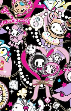 Tokidoki for Hello Kitty iPhone Wallpaper