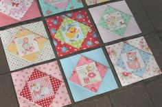 lovely little handmades: sweet life quilt blocks tut    and paper piecing video