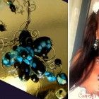 Set Necklace+Earrings,Wire Wrap TURQUOISE gems
