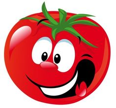 is a  not a  Tomatoes are the most popular fruits in the world. Alphabet, Vegetable Cartoon, Happy Fruit, Fruit Cartoon, Funny Fruit, Food Clips, Emoticon, Rock Art, Cartoon Characters