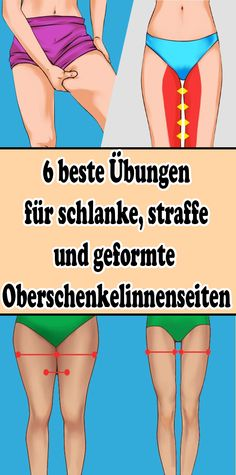 6 best exercises for slender, tight and shaped inner thighs - Gesundheit - health & fitness Fitness Workouts, Fitness Motivation, Exercise Motivation, Diets Plans To Lose Weight, Coconut Health Benefits, Reduce Cellulite, Health Challenge, Inner Thigh, Yoga