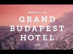The Grand Budapest Hotel | Visual Analysis - YouTube