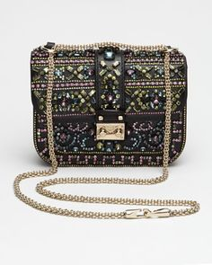 Crystal-Covered Glam Lock Crossbody by Valentino at Bergdorf Goodman.