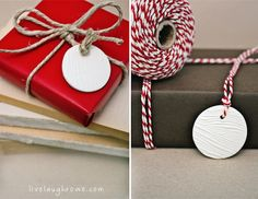 How-To: Wood Grain Polymer Clay Gift Tags