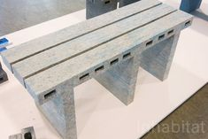 """Designer Woojai Lee recycles newspaper into """"marbled"""" furniture"""