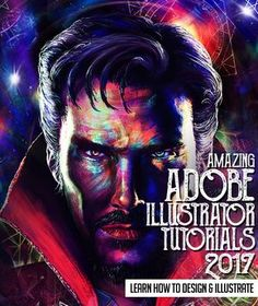 """Here is my graphic tribute to the Marvel movie """"Doctor Strange"""". This alternative movie poster is a digital painting created on adobe photoshop and illustrator. Graphic Design Tutorials, Graphic Design Inspiration, Art Tutorials, Design Projects, Design Trends, Design Ideas, Adobe Illustrator Tutorials, Photoshop Illustrator, Create Cartoon Character"""