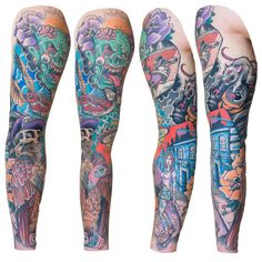 By combining a bunch of different skateboarding elements, this guy created a shrine to his favorite hobby. | 27 Themed Tattoo Sleeves That Are Basically Works Of Art
