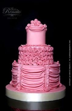WOW that's a pink cake! From Cakes by Renato in Salerno, Italy.