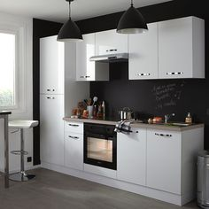 Meuble de cuisine castorama on pinterest discover the for Cuisine complete blanche