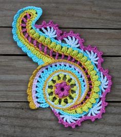 Crochet Tutorials – WHIRLY SPIRAL - crochet pattern, pdf – a unique product by allescaro on DaWanda