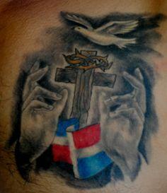 DOMINICAN FLAG TATTOO BY THE RED PARLOUR TATTOO #tattoos #tattoo #ink #Tätowierung #tatuaje #tatouage