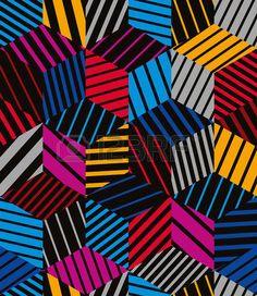 幾何学的な: 3 d キューブ シームレス パターン、幾何学的ベクトルの背景が並ぶ。