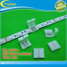 5pcs/lot, 4pin LED Strip connectors 10mm PCB board wire connection for 5050 RGB color strip-in Connectors from Electrical Equipment & Supplies on Aliexpress.com | Alibaba Group