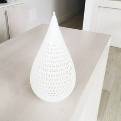 After 15 hours 13 minutes & 15 seconds: we have this stunning Tannery lampshade! (at Innovation Factory)  Design: Tannery Light Shade for Rostock 3D Printer by Dizingof