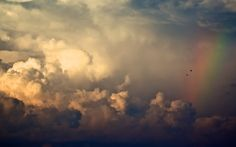 Storm Clouds And Rainbow Retina MacBook Pro wallpapers