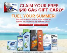 **HOT GAS CARD OFFER**  Check out this great FREE Gas Card offer I ran across morning! You can get a FREE $10 Gas Card when you buy $25 worth of Dial, Dial for Men, Right Guard, Tone or Dry Idea Products. Click the link below to get all of the details ► http://www.thecouponingcouple.com/free-gas-card-with-purchase-of-25-of-henkel-products/