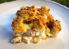 Cheesy Bacon Breakfast Casserole | Plain Chicken