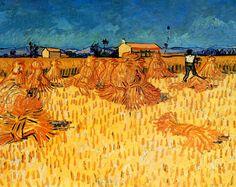 Vincent Van Gogh - Post Impressionism - Arles - Récolte de blé en Provence - 1888
