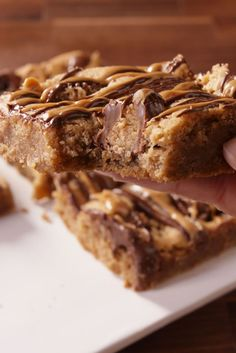 Reese's Peanut Butter Blondies - These were amazing! Pretty dense, so you can cut them into small squares. We'll be making these again.