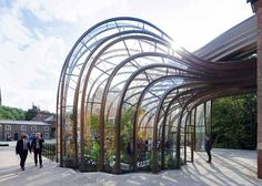 Thomas Heatherwick, glasshouse, glass house, Bombay Sapphire, gin distillery, English architects, alcohol brands, natural light, Victorian architecture
