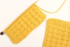 Free Knitting Pattern + Video Tutorial of How to Knit the Waffle Stitch with Studio Knit