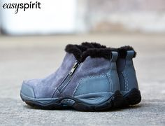 Prepare for the cold months ahead in a bootie lined with fur.