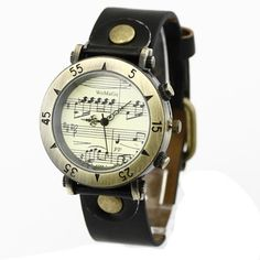 I like the idea of musical notes on the inside. #music #watch #unisex