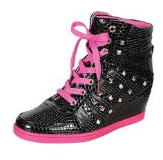 Reneeze-KELLY-03-Womens-Hidden-Wedge-Fashion-Sneakers-BLACK