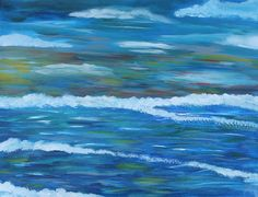 Original abstract sea Acrylic Painting Landscape Painting Canvas art Beach  Wave on  canvas fabric ,30x40 cm on Etsy, $25.67