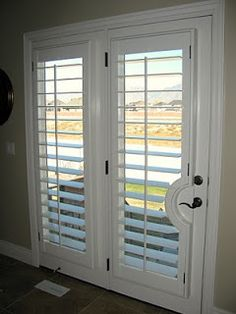 Windows with plantation shutters rooms we can supply for Plastic french doors