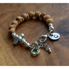 Olive Wood Bracelet   First Communion Gifts For Boys