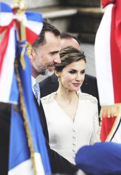 King Felipe and Queen Letizia on their state visit to France, Paris 06-02-2015.
