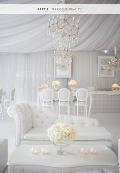 WedLuxe Magazine: All White & Silver by Anne Andersons Events