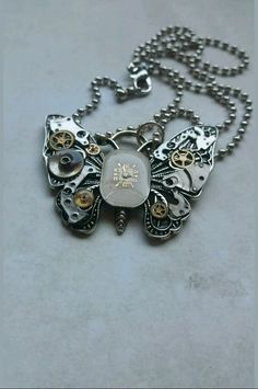 Steampunk butterfly necklace  NewmansJules