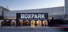 Centre commercial Pop-up/ Pop-up Mall - New Ideas Container Shop, Container Design, Dubai, Retail Facade, Container Conversions, Centre Commercial, Container Architecture, Shopping Places, Commercial Architecture