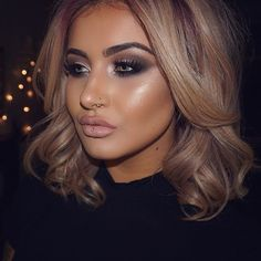 Glam makeup to match my glam hair by @jasminemurphyhair. .. BROWS: @anastasiabeverlyhills dipbrow in dark brown @benefitcosmeticsuk gimme brow in dark .. EYES: @tartecosmetics tartlette palette @inglotuk gel liner @hudabeauty lashes in Samantha .. FACE: @stilacosmetics aqua glow serum foundation @beccacosmetics opal highlighter @makeupgeekcosmetics contour powder .. LIPS: @yslbeauty beige tribute lipstick @maccosmetics spice liner