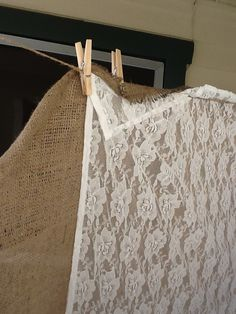 burlap and lace- picture background?